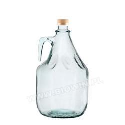 Бутылка из белого стекла c винтовой пробкой 3 л