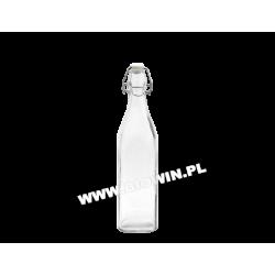 Бутылка из белого стекла c герметичной пробкой 1 л