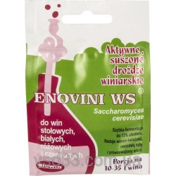 Дрожжи винные  Enovini ws для столовых вин
