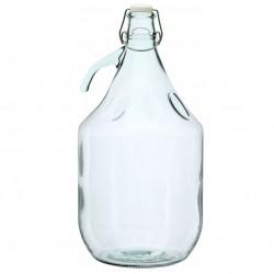 Бутылка из белого стекла c герметичной пробкой 5 л